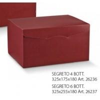 SCAT.SEGR.6BOTT. 325X255X180 BORDEAUX