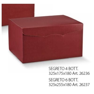 SCAT.SEGR.6BOTT. 325X255X180 SETA BORDEAUX