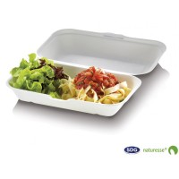 FOOD BOX RICHIUDIBILE LARGE 23,5X14X6,7CM 25PZ POLPA BIO COMPOST